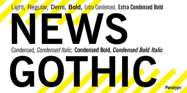 News Gothic Roman Font For Web Desktop On Rentafont