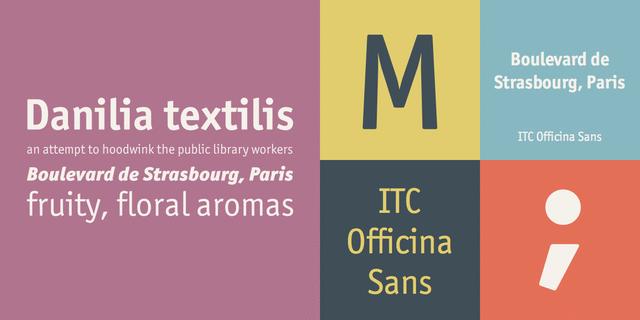 Itc Officina Sans Book Font