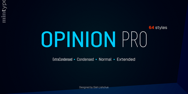Opinion Pro Medium Font for Web & Desktop on Rentafont