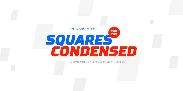 TT Squares Condensed Bold Font for Web & Desktop on Rentafont