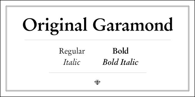 Original Garamond Regular Font for Web & Desktop on Rentafont